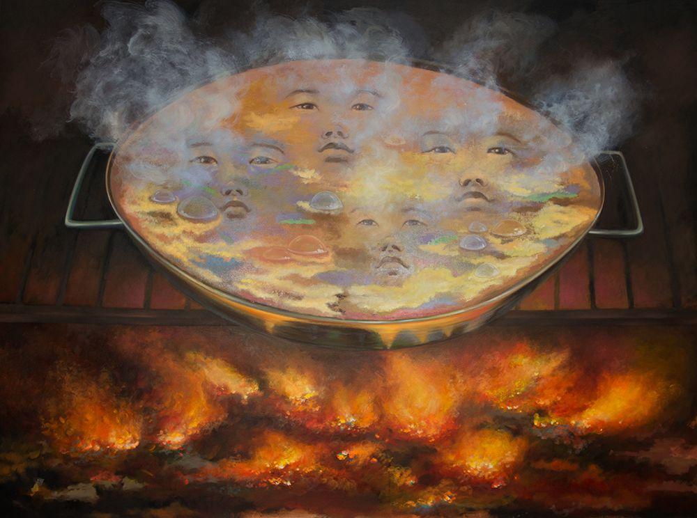 Paella, 120 x 160 cm, Öl auf Leinwand, 2015